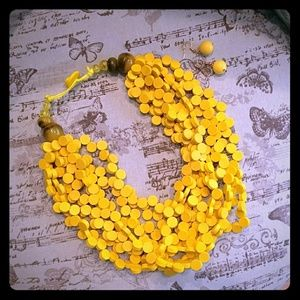 NEW necklace/earrings set yellow